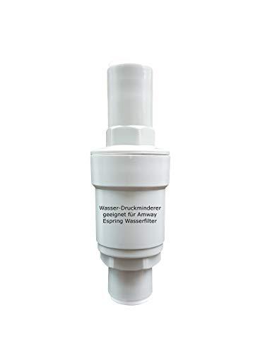 Reductor de presión de agua adecuado para el filtro de agua Amway Espring permite la conexión de todos los grifos de 3 vías para la reducción de la presión.