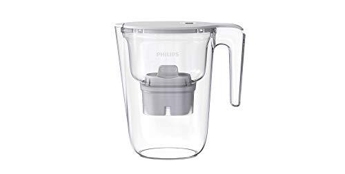 Philips - AWP2935 - Jarra filtradora de agua, Incluye 1 cartucho Micro X Clean, Reduce la cal, el cloro y los Microplásticos y PFOA, Agua filtrada con gran sabor y pureza, 2,6 Litros