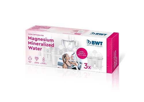 BWT Pack 3 filtros Jarra de Agua con magnesio Longlife mg2+, Blanco, 3 Meses, 3