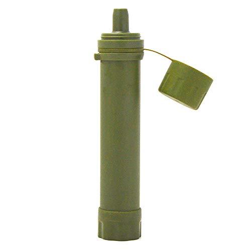 Lixada Filtro de Agua Portátil Sistema de Filtración de Agua Mini para Emergencia Supervivencia Acampada Viaje Mochilero 1/2pcs 1500L (165 * 30mm-Verde)