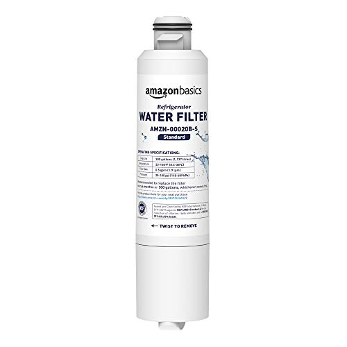 Amazon Basics - Filtro de agua de repuesto para frigorífico Samsung DA29-00020B - Filtración Estándar