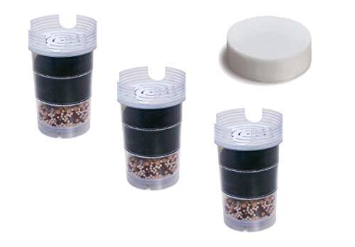 6 meses de suministro de cartuchos de filtro de agua AcalaQuell para AcalaQuell ONE/ AcalaQuell Swing, incluyendo 1 Micro Esponja | 3 cartuchos de filtro de agua