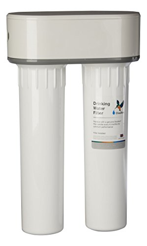 Doulton W9380020 Filtro Doble Purificador de Agua de Plástico, Bajo Encimera y Cartucho Ultracarb, color Blanco