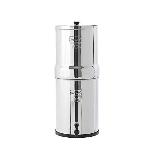 Imperial Berkey Filtro de agua con 2 elementos de purificadores negros sistema de filtrado UK ~ mejor es filtros de agua por gravedad