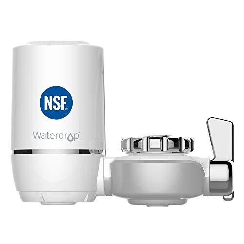 Waterdrop NSF Certificado WD-FC-01 Filtro de Agua, Sistema de Filtración ACF, Purificador de Agua de Cocina de Larga Duración, Reducir el 94.42% de Cloro, Sabor y Olor (1 Filtro Incluido)