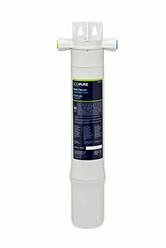 ECOPURE FF Filtro Directo de Agua para Debajo del Fregadero | No se Requiere Grifo Adicional, Blanco