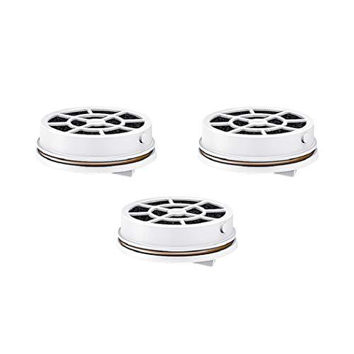 Laica FD03A Caja de 3 filtros de Carbono para Botella de filtración instantánea. filtran 120 litros de Agua, Blanco