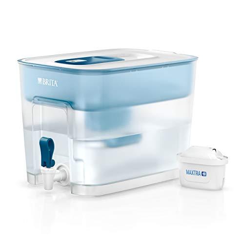 BRITA depósito Flow – Dispensador de Agua Filtrada con 1 cartucho MAXTRA+, Filtro de aguaBRITA que reduce la cal y el cloro, Agua filtrada para un sabor óptimo, 8.2L