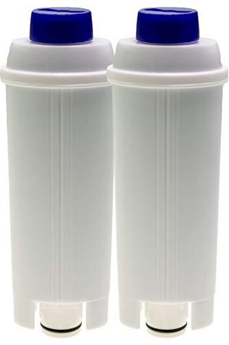 2 filtros de agua compatibles con cafeteras automáticas DeLonghi Autentica ECAM23 Dedica Dinamica Eletta ESAM6720 Maestosa Perfecta PrimaDonna Magnifica S, similar a DLSC002 (14465).