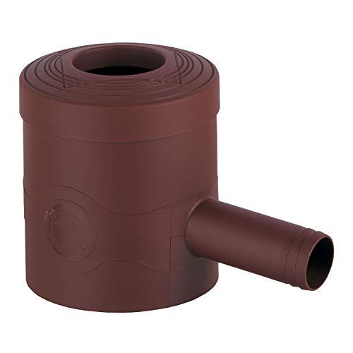 3P Technik Filtersysteme Filtro de agua de lluvia estándar, marrón, para tubos de bajada de 68-100 mm de diámetro y bajantes cuadrados de 60 x 60 mm para llenar barriles de lluvia, barriles y barriles de agua de lluvia.