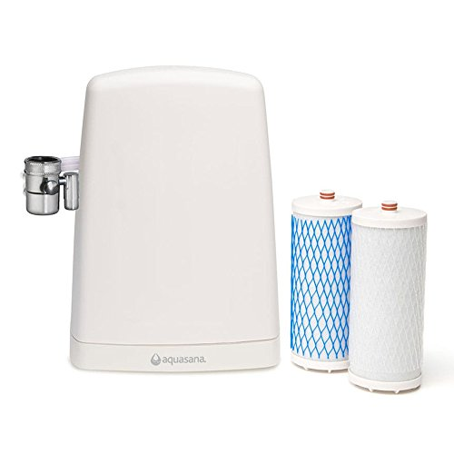 Filtro de agua de sobremesa Aquasana AQ4000 - Purificador de agua doméstico, sistema patentado, elimina cloro y otros contaminantes del agua