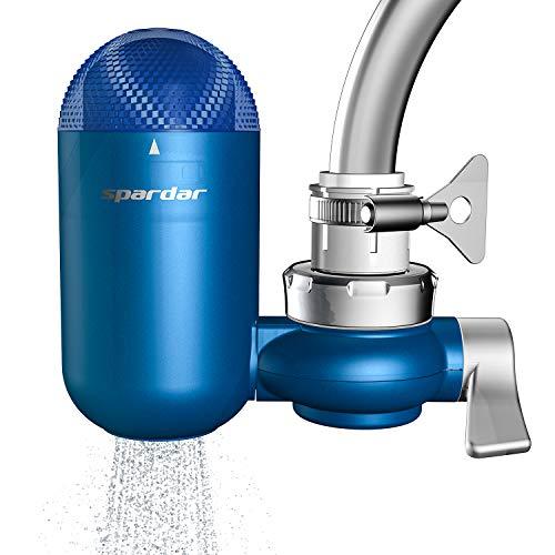Spardar Filtro de agua para grifo, filtro de agua de múltiples capas, filtro de purificador de agua para grifo con cartucho de filtro de cerámica (08 filtros de grifería)