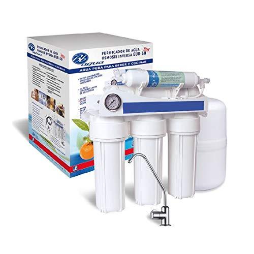 Bbagua Equipo de Osmosis Inversa de 5 Etapas, Blanco, 40cm x 40cm x 14.40 cm