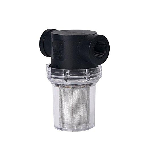 szlsl88 Filtro de bomba de 20 mm/25 mm, tubería de agua, para riego de jardín, filtro de bomba de agua, filtro de flujo gh en línea de malla, colador multiusos (20 mm (1 2)