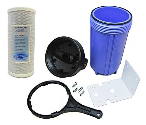 Finerfilters Sistema de filtro de agua para toda la casa, purificador de agua filtrada para toda la casa con filtro de bloque de carbono de 5 micrones