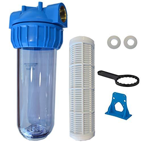 RC - Filtro Agua Portacartuchos, Filtro Malla Lavable, Vaso Contenedor 1' - Porta Prefiltro