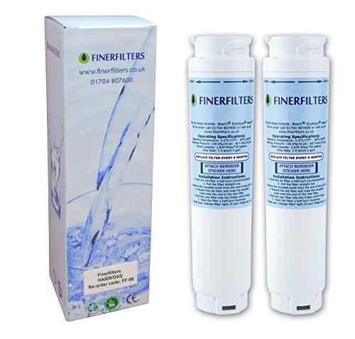 2 filtros de agua Finerfilters FF-90 compatible con filtro de agua Rangemaster DxD