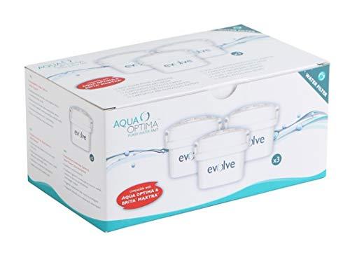 Aqua Optima EVS301 Evolve - paquete de 3 meses, filtros de agua de 3 x 30 días, Fit BRITA Maxtra (no * Maxtra +)