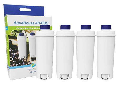 AquaHouse - Filtro de repuesto compatible con AH-CDE para cartucho de filtro de agua DeLonghi DLSC002, SER3017, 5513292811 para cafetera