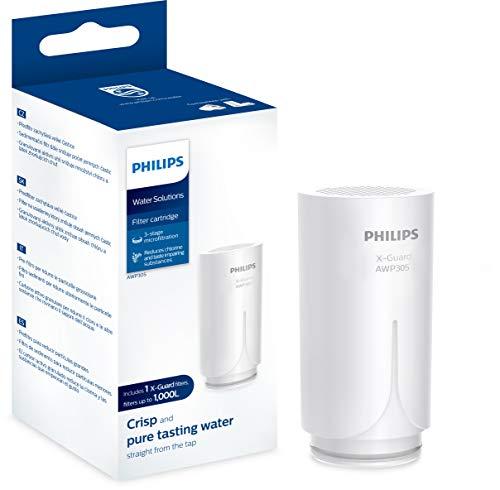 Phillips - AWP305 - Cartucho Filtrante de Agua para Grifo X-Guard On Tap, Filtro de agua con Tecnología Microfiltración de 3 etapas, Duración 1.000 Litros / 5 meses