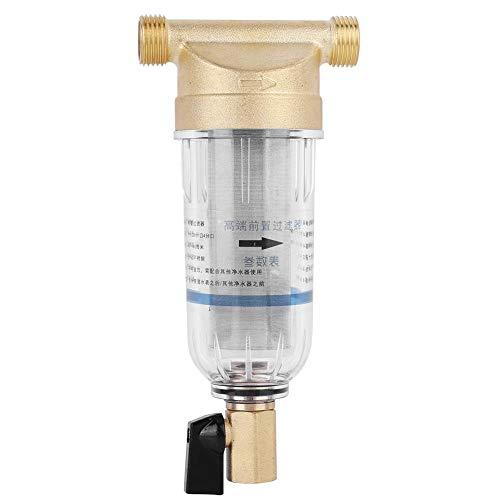 Reutilizable Spin Down Filtro de Agua de Sedimentos Grifo Purificador de Agua Prefiltro Filtro de Sedimentos para Pozo de Agua Filtro de Sedimentos(1/2' Male Thread)