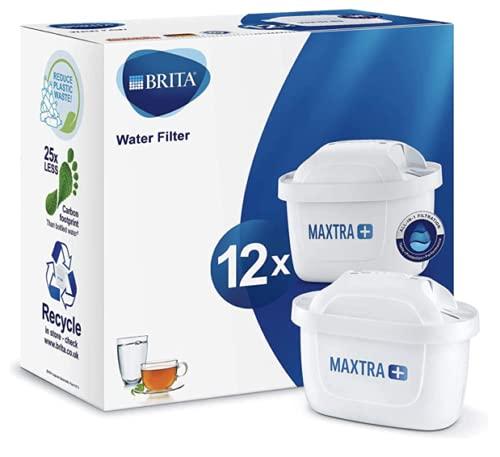 BRITA Maxtra+ Cartuchos para filtrado de Agua, Color Blanco, plástico, Blanco, 12 Unidades