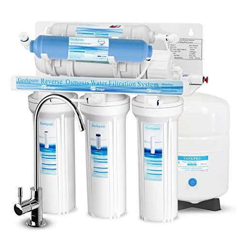 Geekpure-Sistema de filtro de agua potable de ósmosis inversa de 6 etapas con filtro DI TDS a 0-75 GPD