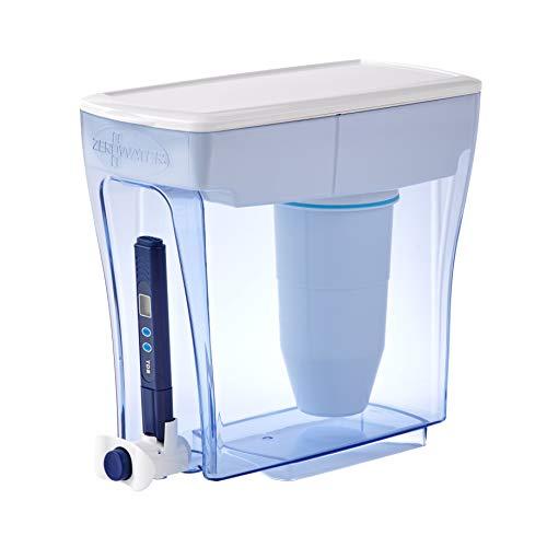 Sistema de filtración de agua de 4,7 litros, con Medidor de Calidad de Agua Gratis | Libre de BPA y certificado para Reducir el Plomo y Otros Metales Pesados | Cartucho de Filtro de Agua Incluido