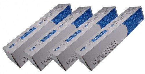 Water Filter DD-7098 - Filtro de agua externo para frigoríficos compatible con Balay 00750558, Siemens 00750558, Bosch 00750558, Neff 00750558, Sustituye a 00497818 - Daewoo 3019974800 (Paquete de 4)