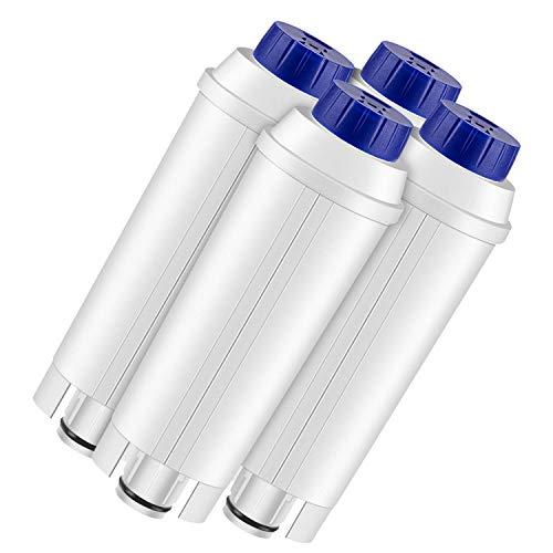 Lirex Cartucho Filtro para Delonghi DLSC002, Filtro de Agua de la Máquina de Café Repuesto con Carbón Activado, Compatible con ECAM, ETAM, EC680, EC800-4 Paquetes