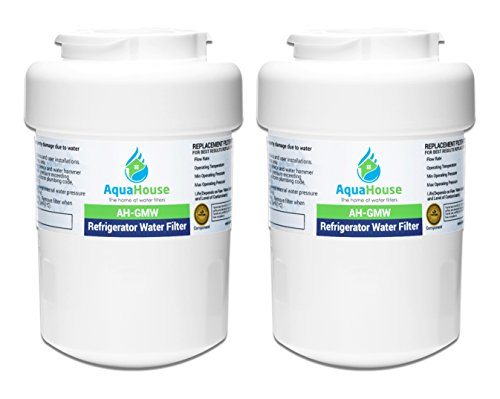 2x AquaHouse AH-GMW filtro de agua compatibles para General Electric GE SmartWater MWF GWF, Sears, Kenmore, Hotpoint nevera HWF, WF07