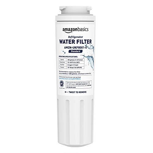AmazonBasics - Filtro de agua de repuesto para el frigorífico Maytag UKF8001 - Filtración Estándar