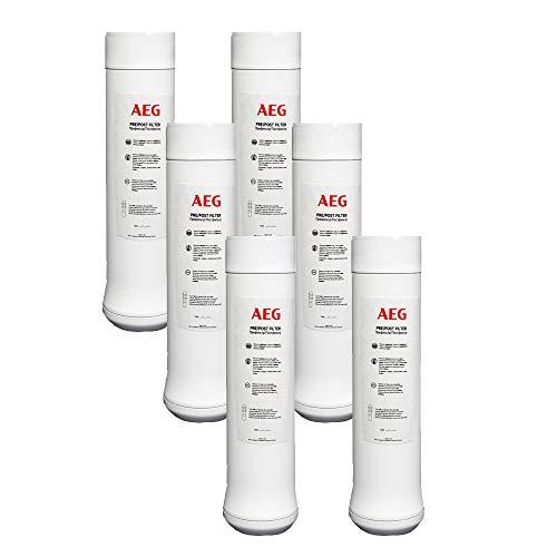AEG 3AEGPPF Pack de 3 Kits de Pre/Post Filtros de Repuesto para el Sistema de Ósmosis Inversa AEGRO, Blanco