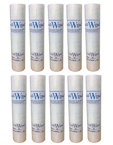 10 x Cartucho del filtro de agua de sedimentos, PP, 5micras, ósmosis inversa y otros filtros de agua