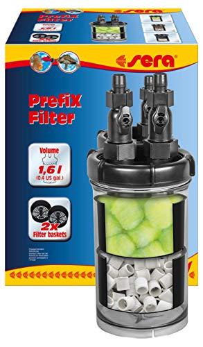 Sera Prefix - Filtro prefiltro, biofiltro y Filtro rápido para conexión a una Bomba o Filtro Exterior en el Acuario, para ampliación del Volumen del Filtro para carbón de Filtro, fosfato y silicato
