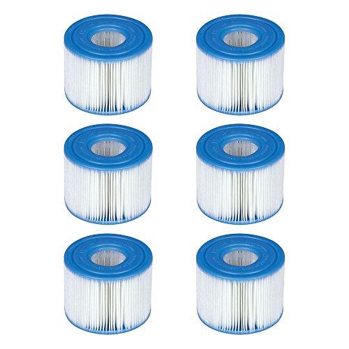 Intex - 29001E - PureSpa Tipo S1 Easy Set - Cartuchos para el Filtro de la Piscina, 6 filtros