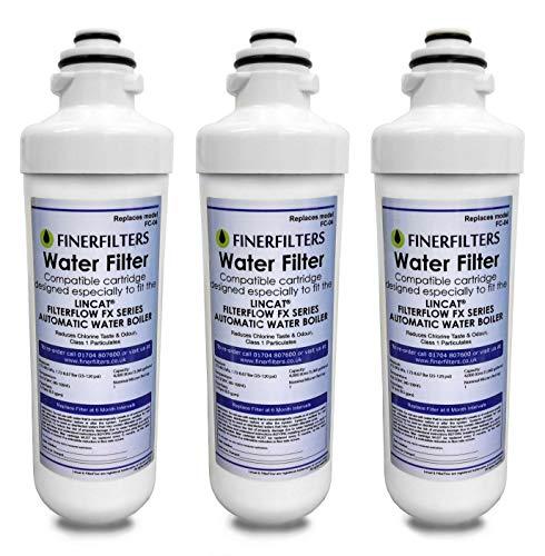Finerfilters Filtro de agua FC04 compatible con todas las calderas LINCAT FilterFlow FX Series (3 unidades)