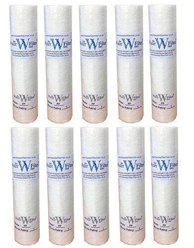 The Water Filter Men 10 Pulgadas de Filtro PP sedimentos de Agua Cartuchos de 1 micrón (Pack de 10)