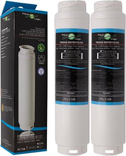2x FilterLogic FFL-110B Filtro de agua compatible con 3M UltraClarity 00740560, 740560/644845 para BALAY, BOSCH, SIEMENS, NEFF, MIELE, HAIER frigorífico - Ultra Clarity 9000733786 VIB-Z4500W0
