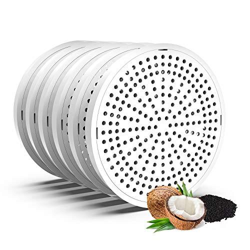 HoneyGuaridan Recambios de Filtros de Carbón Actualizado para Fuente de Agua para Mascotas W18/W25/W25 Pro/W58 Fuente de Agua para Mascotas - Pack de 6