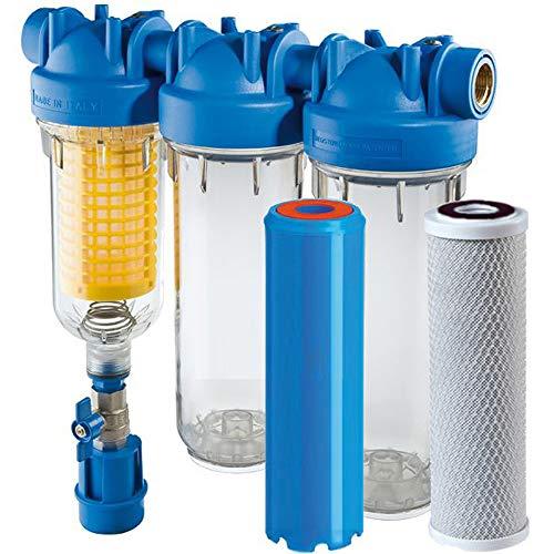 HYDRA Ironmaster - Juego de filtros de hierro para agua de pozos (2,5 cm)