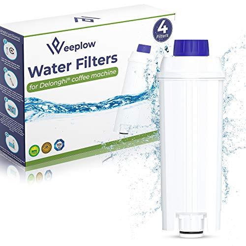 Weeplow - 4 Filtros de Agua DLSC002 Compatible con Cafetera Delonghi Magnifica, Dinamica, PrimaDonna y todas las Series ECAM ESAM ETAM BCO EC (4)