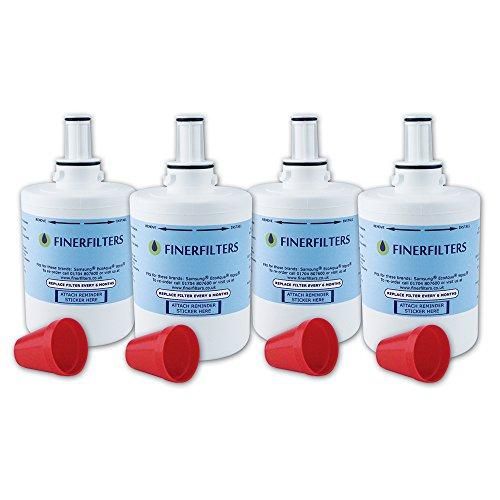 Filtro de agua Finerfilters compatible con frigoríficos Samsung Aqua Pure Plus DA29–00003. Compatible con versiones B, F o G.