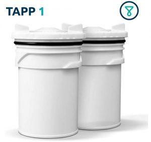 Juego de 2 cartuchos de recambio para filtro TAPP 1