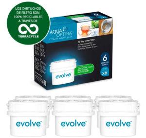 Aqua Optima EVS602 Evolve filtros de agua – Pack de 6 meses
