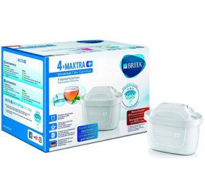 Filtro de agua MAXTRA+ BRITA Cartucho Universal 4 unidades