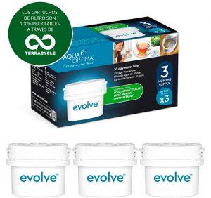 Aqua Optima EVS301 Evolve filtros de agua – Pack de 3 meses